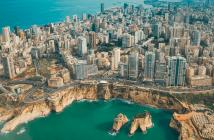 Ville de Beyrouth vue du ciel Liban