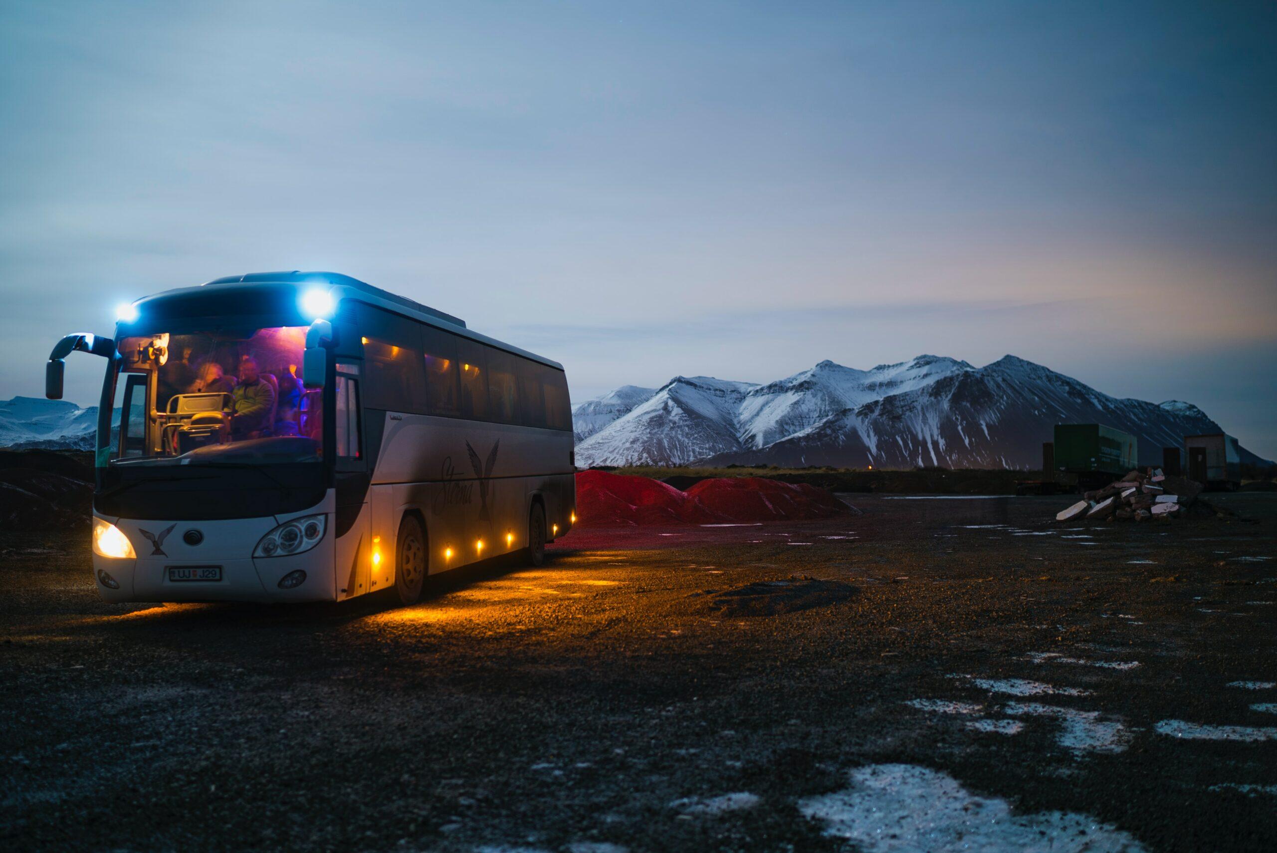 Montagne en bus
